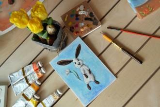 пасха, заяц, пасхальный кролик, рисунок