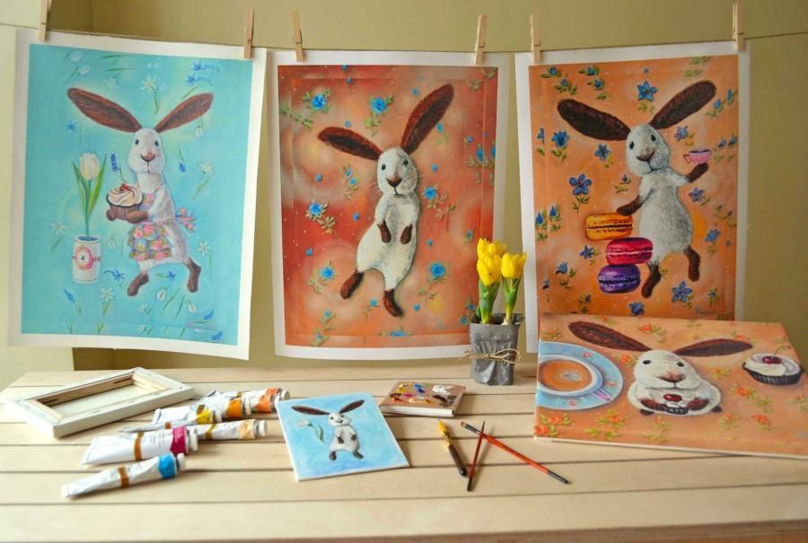рисунок пасхального зайца