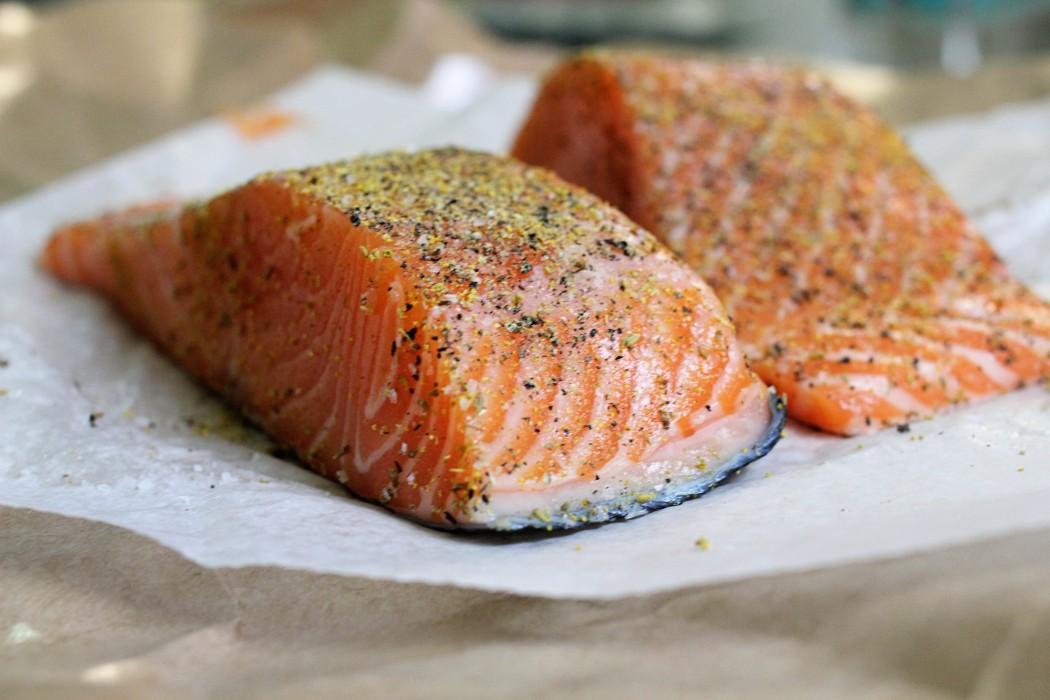 запеченый лосось