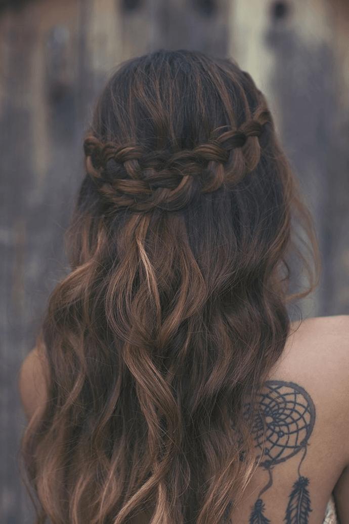 косы, идеи свадебной прически