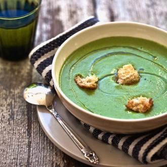 Огуречный суп-пюре с перечным маслом