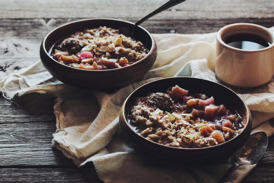Овсяная каша с фруктами и шоколадом - рецепт пошаговый с фото