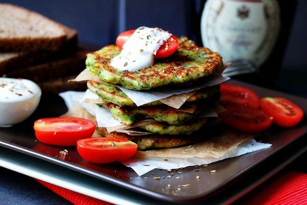 оладьи из брокколи с сыром рецепт