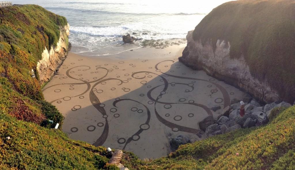 рисунки на песке Андрес Амадор