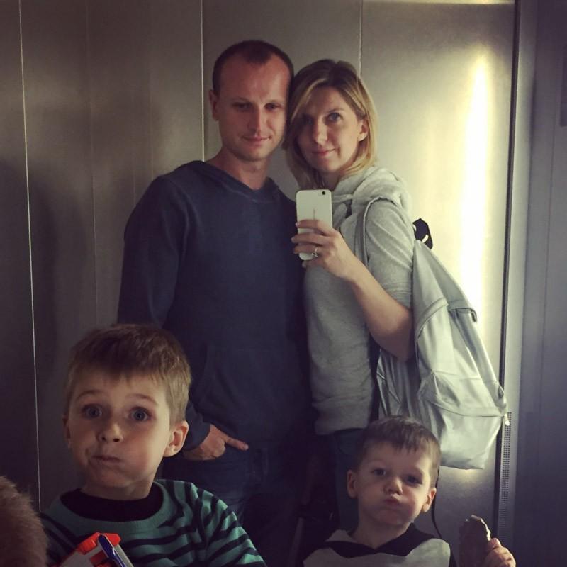 Olga Ryabinkina and family