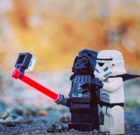 lego jedi selfie