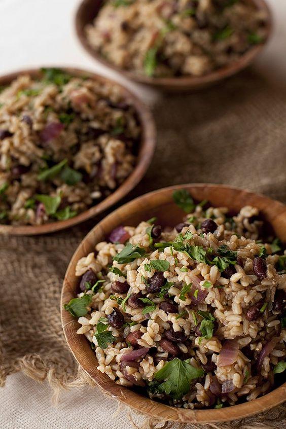 brown bean rice