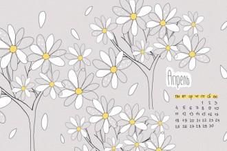 Календарь на апрель 2016