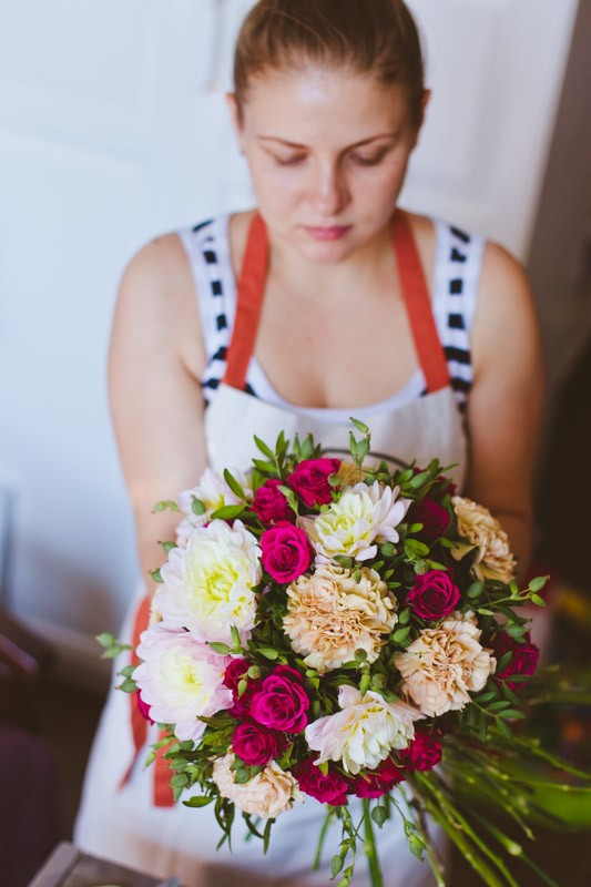 как собрать цветы в букет