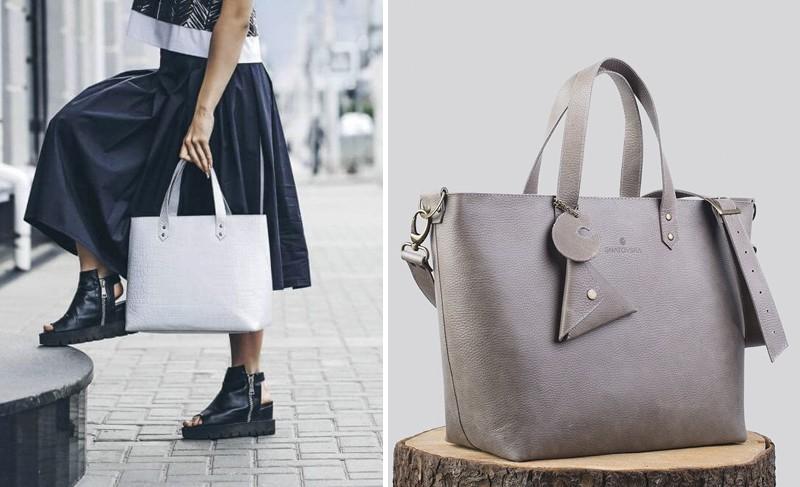 gnatovska кожаная сумка-шоппер осень 2016