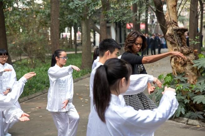 Barak and Michelle Obama
