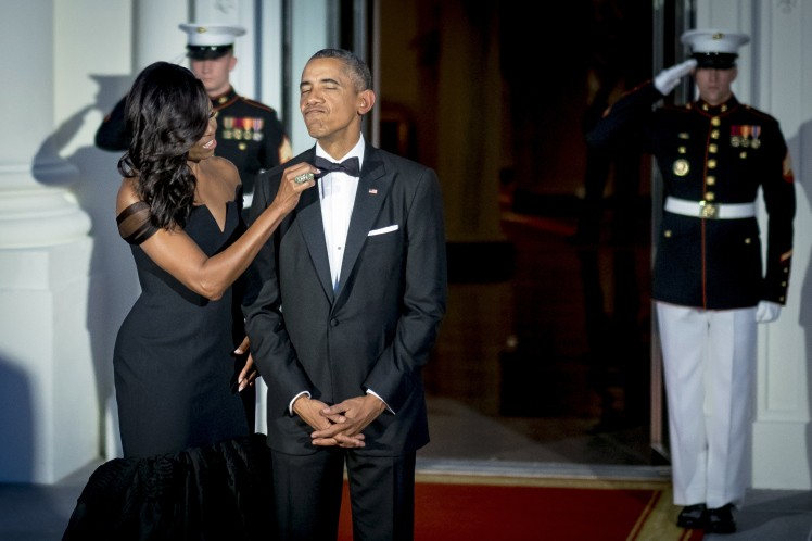 Barak and Michelle Obama