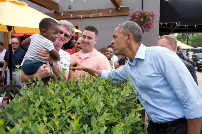 Obama and kids