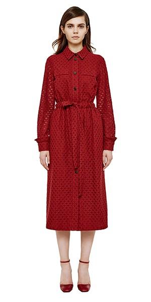 платье из кружева, платье на зиму, зимнее платье красное