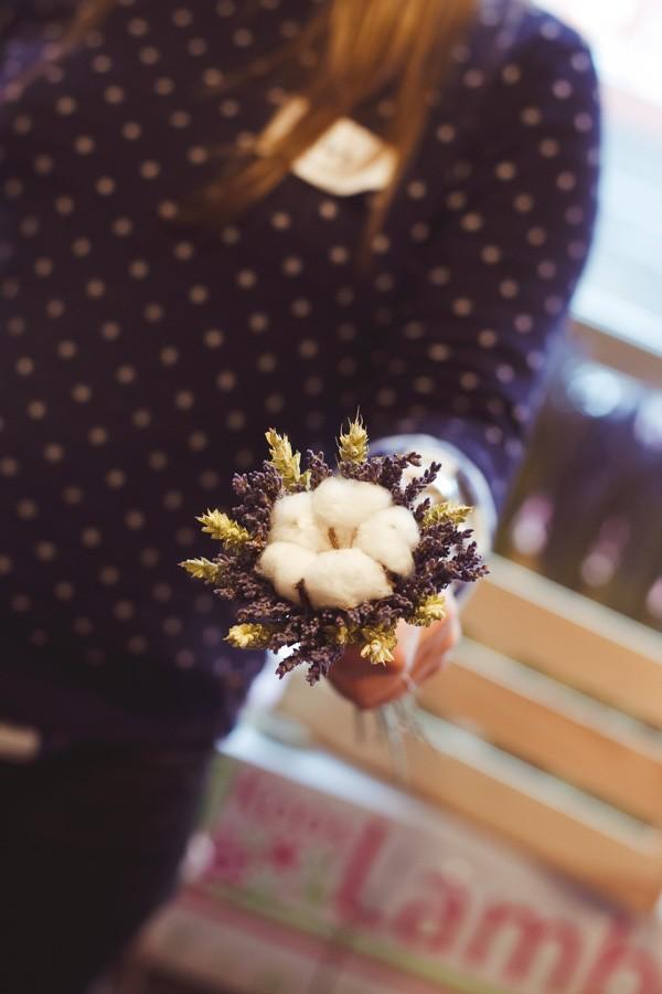 букет из лаванды и хлопка, хлопок и лаванда, букет из сухоцветов, Brasserie 0.33