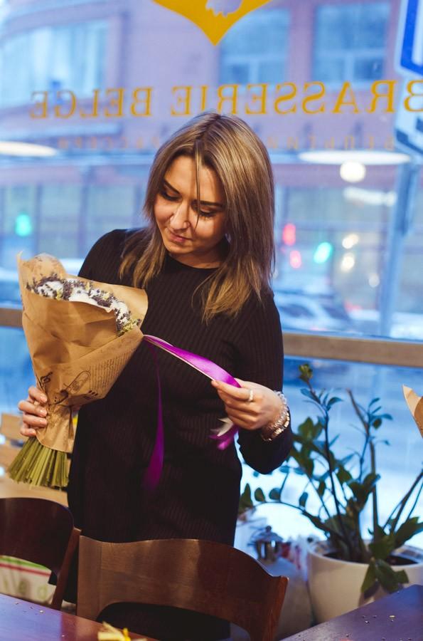 мастер-класс по флористике, букет из лаванды и хлопка, хлопок и лаванда, букет из сухоцветов