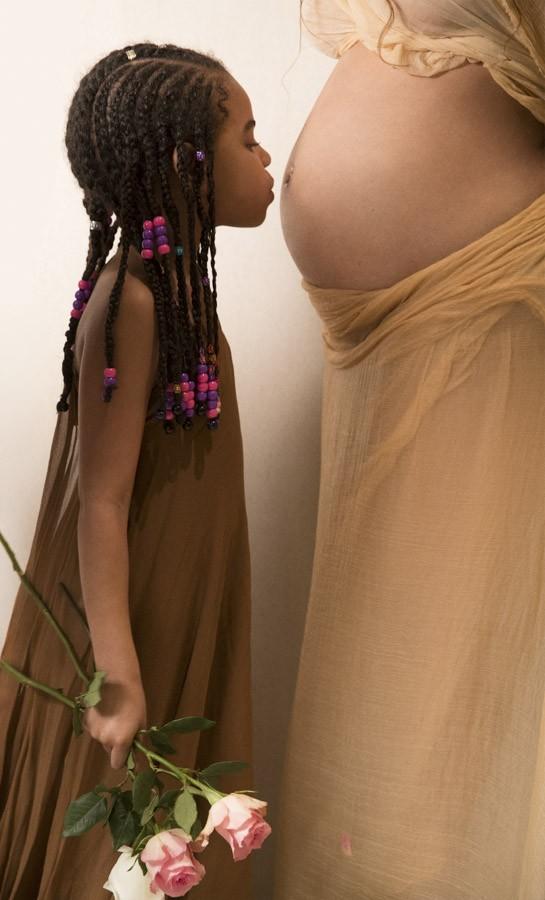 полная фотосессия беременности Бейонсе