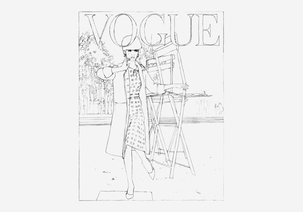 Vogue Paris выпустил раскраску по мотивам культовых обложек
