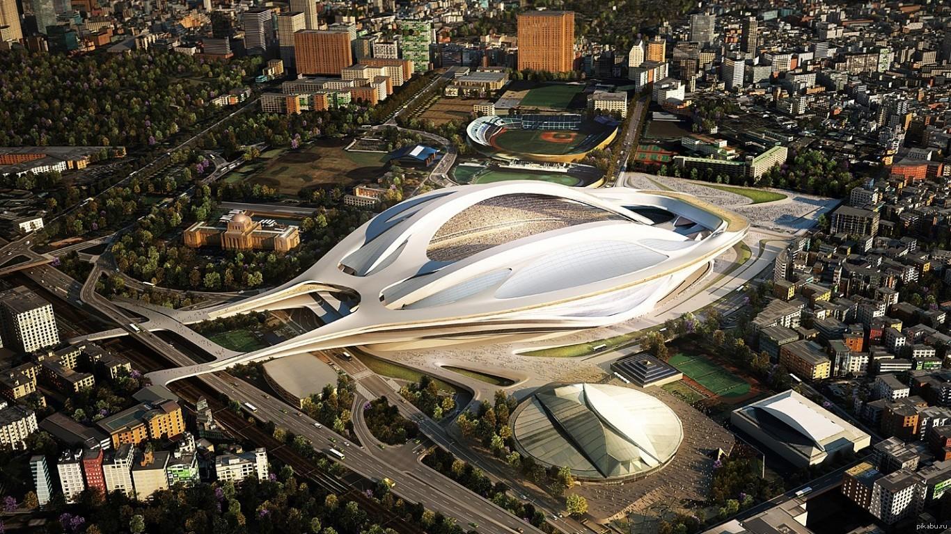 Заха Хадид Олимпийский стадион 2020 в Токио