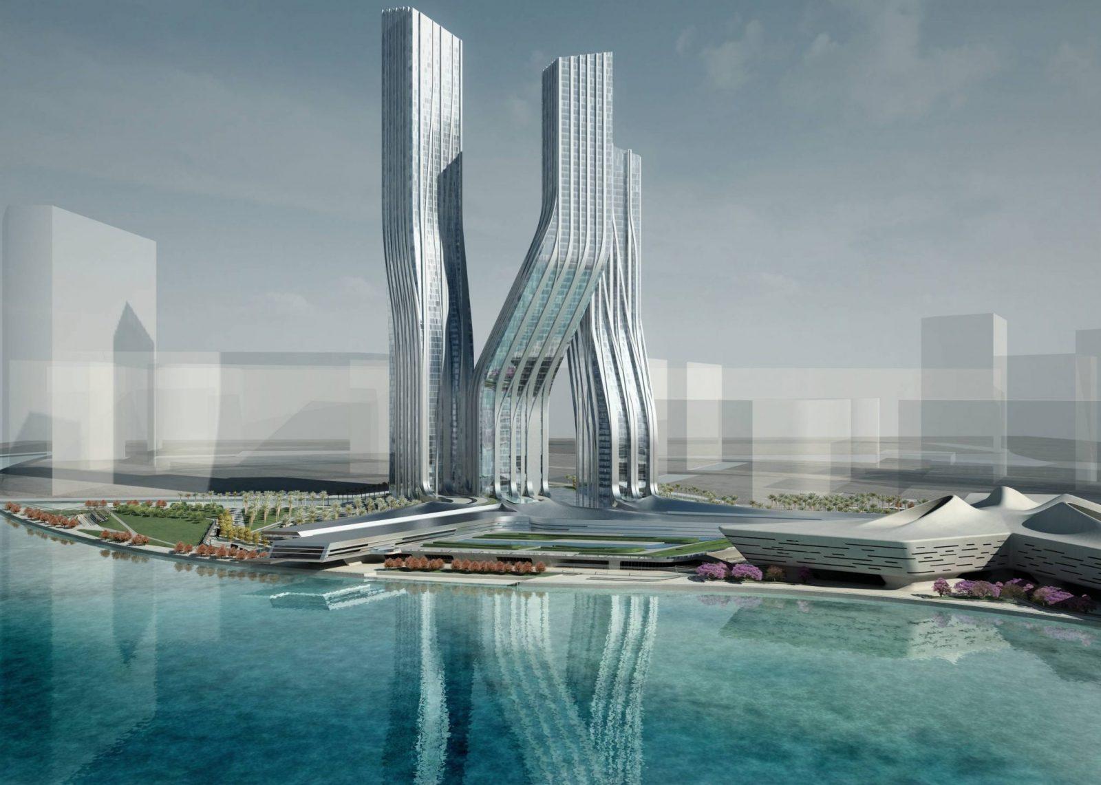 Заха Хадид Танцующие башни Дубаи