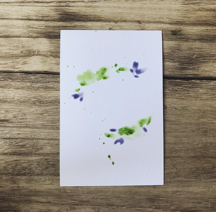DIY: акварельная открытка с леттерингом