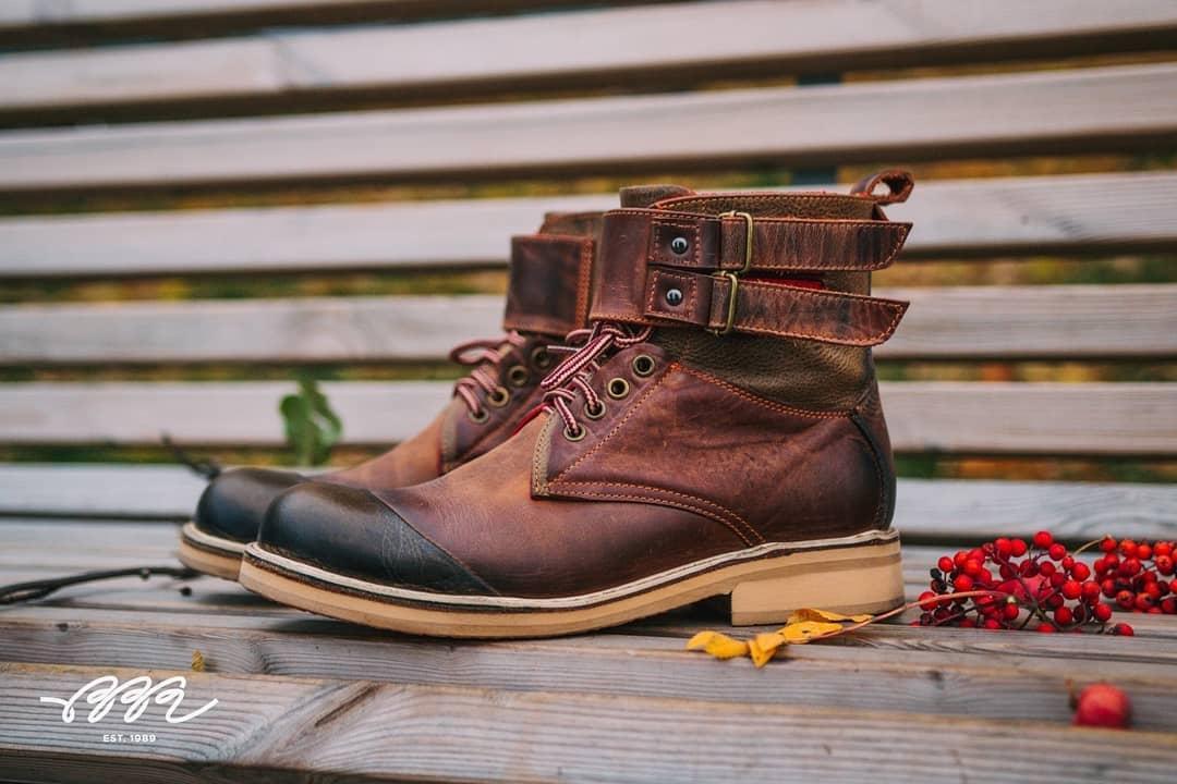 кожаные ботинки на заказ