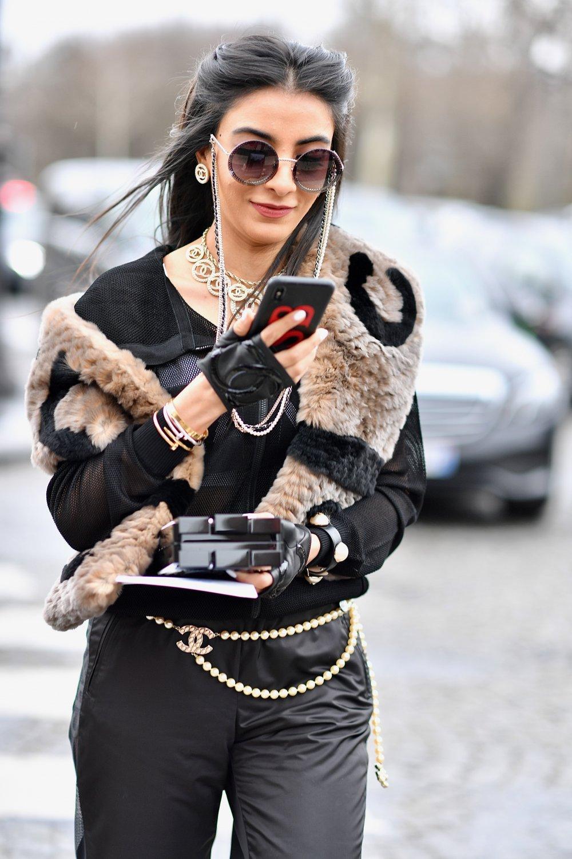модные тренды весна 2019, пояс-цепочка