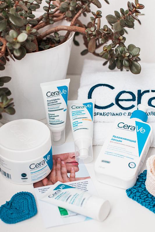 CeraVe увлажняющая линейка средств для ухода за кожей